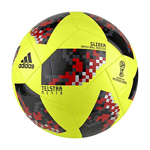 adidas Herren FIFA Fussball-Weltmeisterschaft Knockout Glider Ball, SYELLO/Black, 5