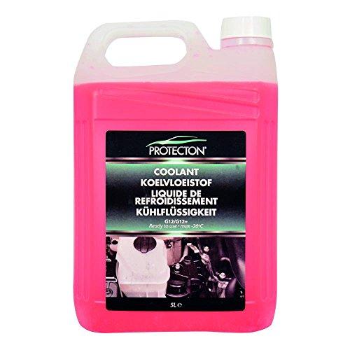 Protecton 1890910 Kühlflüssigkeit G12/G12+ 5-Liter gebrauchsfertig, Rosa (Kühler Wasser)