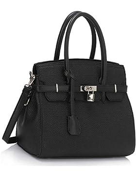 LeahWard® Damen Qualität Essener Mittlere Größe Vorhängeschloss Taschen Handtaschen Mode Tasche CWS00140 CWS00140E