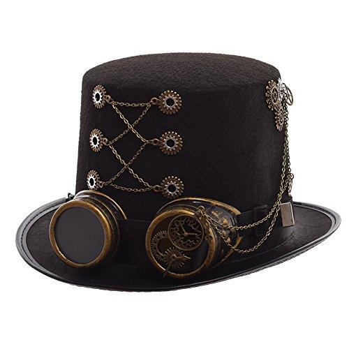 (GRACEART Steampunk Hut Zylinder mit Brille (Verschiedene Stile))