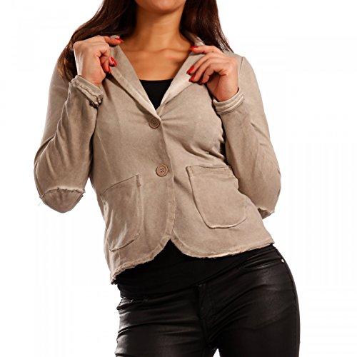 Made Italy - Giacca da abito - Camicia - Basic - Maniche lunghe - donna  Crema