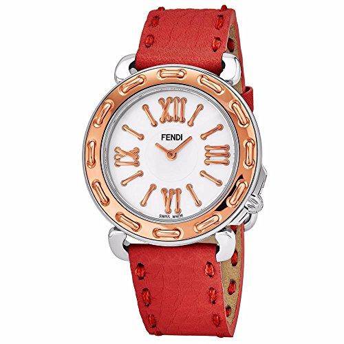 Fendi Women's Selleria 35mm Leather Band Swiss Quartz Watch F8002345H0.SSNB