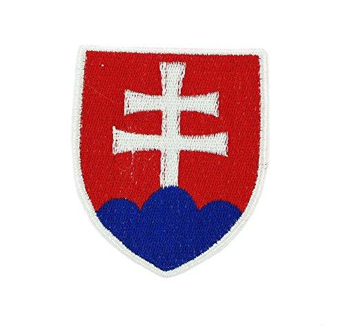 Slowakei Flagge T-shirt (Patch-Aufnäher zum Aufbügeln backpack Wappen Flagge armoirie Slowakei)