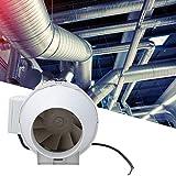 Ventilatore da 4 pollici, Ventilatore da condotto ad aria compressa a pressione obliqua di scarico 156Pa 2200 giri/min 198 m³/h (117CFM) 26/35W(220V)