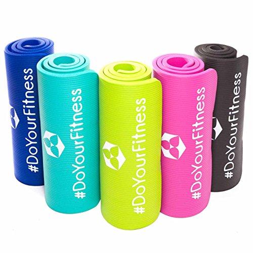 #DoYourFitness Fitnessmatte ideal für Pilates Gymnastik Heimsport und Yoga ab 0,8cm Dicke bis 2cm / Maße 183x61 BZW 190x100 Yogamatte Sportmatte Sportunterlage Gymnastikmatte Pilatesmatte Yogini-grau