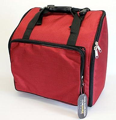 Steirische Harmonika Tasche Rucksack DELUXE-PRO Rot 4-reihig