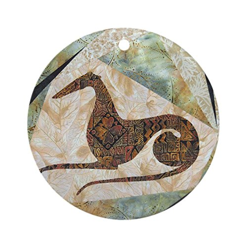 Mantel, für Windhund, Ornament, Tribal, Vintage, Ornament-Standard, - Windhund Mantel