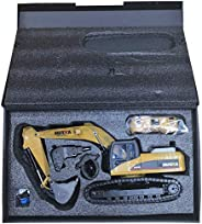HUINA 1580 1:14 3 in 1 Full Metal Excavator/Drill/ Grapple RC Engineering Car, 11kg weight
