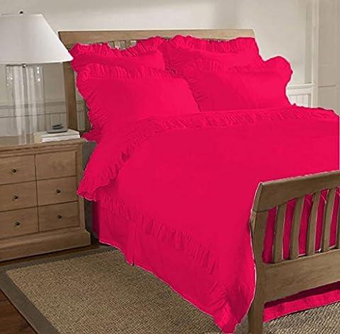 scalabedding 500TC Baumwolle égyptien-taille mit Strapsgürtel 1-teilig Bettbezug/Königin Hot Pink