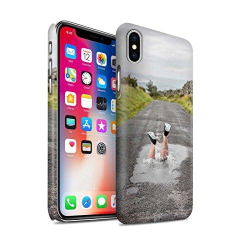 STUFF4 Matte Snap-On Hülle / Case für Apple iPhone X/10 / Große Flucht Muster / Vorstellen Kollektion Spritzen