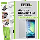 dipos Samsung Galaxy A3 Schutzfolie (2 Stück) - Antireflex Premium Folie matt