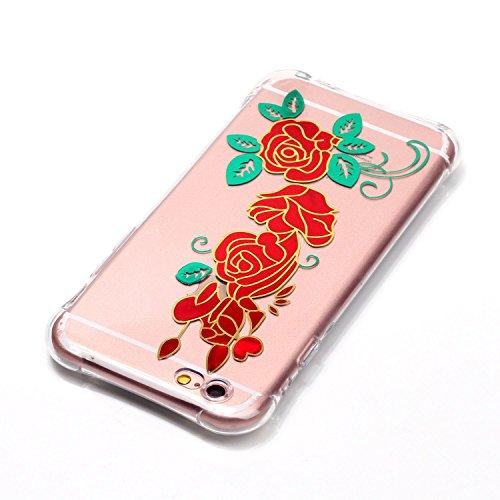 Voguecase® Pour Apple iPhone 4 4G 4S, TPU avec Absorption de Choc, Etui Silicone Souple, Légère / Ajustement Parfait Coque Shell Housse Cover pour Apple iPhone 4 4G 4S (Lapin-Gris)+ Gratuit stylet l'é Rose rouge