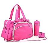 My Milestones Duo Detach 2-in-1 Baby Diaper Bag/Mothers Bag - Pink