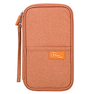 Portafoglio da viaggio e porta carte di credito Oklm   Pratica pochette porta passaporto unisex con tasche con cerniera   Include scomparto per Smartphone