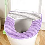 Jamicy® WC Sitzbezug, Rutschfeste Mode WC Sitzbezug Matte warme Bunte Form waschbar Badezimmer Badematte Badezimmer Küche Teppich Fußmatten Dekor (Lila)