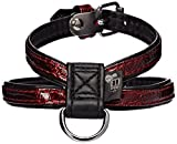 dogit-Stil Imitat Leder Hundegeschirr, Venezia, XS, rot
