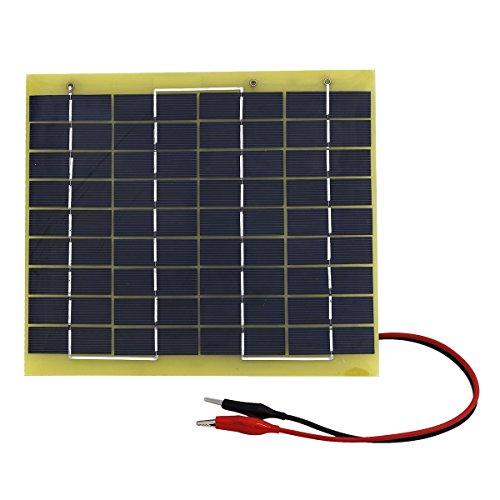 ECO-WORTHY 5W 12V Epoxy Solarmodul-Modul Ladegerät mit Akku-Clips Easy Carry für Camping Iop-modul