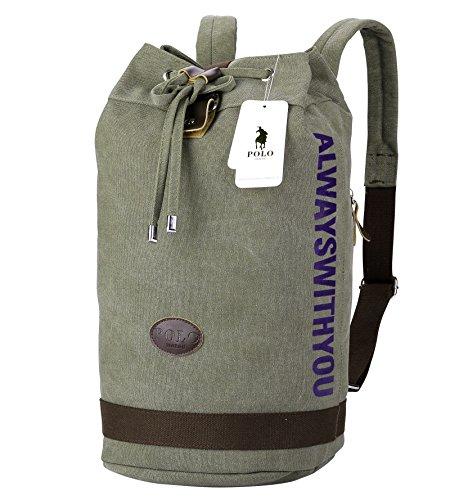 Laptop Rucksack,VIDENG POLO Geschäft Segeltuch Handtaschen Büchertasche für die Universität Reise Rucksack für unter 15 17 Zoll Laptop Olive-bct
