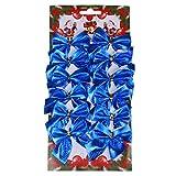 12er Set Weihnachtsbaum Deko Weihnachtsdeko Bow Party Garden Dogen Dekor Weihnachtsverzierung (Blau)