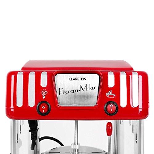 Klarstein Volcano Popcornmaschine Retro-Design mit Innenbeleuchtung - 4