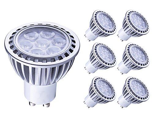 Lampaous gu10 led 7w Kaltweiss Leuchtmittel Led Lampe Spot Birnen ersetzt 70 Watt Halogenlampe 600lm 230V AC 6er Pack