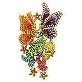 Butler & Wilson Grand Cristal Multicolore Broche Papillon & Fleur