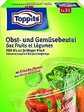 Melitta de frutas y hortalizas bolsa-zip cierre (7 x 3 litros/29 x 24 cm) plástico