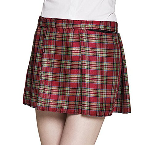 Boland 81226 Rock Mrs Tartan, One - College Motto Party Kostüm