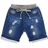 Grandwish pantaloncini jeans denim con strappi per ragazzi 2 anni