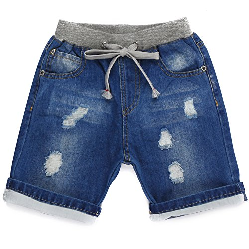 Grandwish Boys Denim Ripped Shorts 2-10 Years