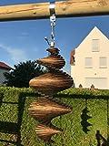WoMa Kreativ Windspiel Windspiel aus Holz / Windspirale / Holzspirale - Länge 62 cm - Farbton Wenge / Windspirale / Holzspirale - Länge 62 cm, Farbton Wenge