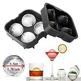 homiki Eiswürfel rund Backform Kugel von Eis 4x 34x Platte Eiswürfelschale aus Silikon, perfekt für den japanischen Whiskey, Cocktails und andere Getränke