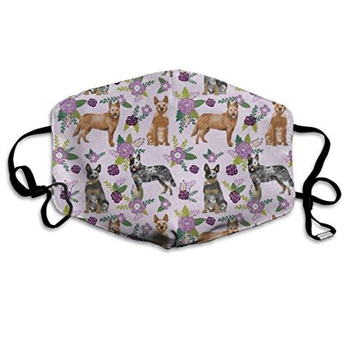 Australische Haustierdecke für Hunde und Haustiere, mit Blumenmuster, Anti-Staub-Maske, waschbar, wiederverwendbar, Mund (Pediatric Maske)