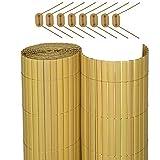 Sol Royal SolVision P78 - PVC Sichtschutz Zaun 140 x 400 cm Natur Stabiler Balkon & Garten blickschutzz & Windschutz