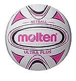 Molten Ultra Plus - Palla da Netball, Bianco (Bianco/Rosa), Taglia 5