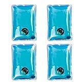 Calientamanos Instantáneos de Gel - Paquete de 4 - Calentadores de Manos Reutilizables - Plástico, Azul