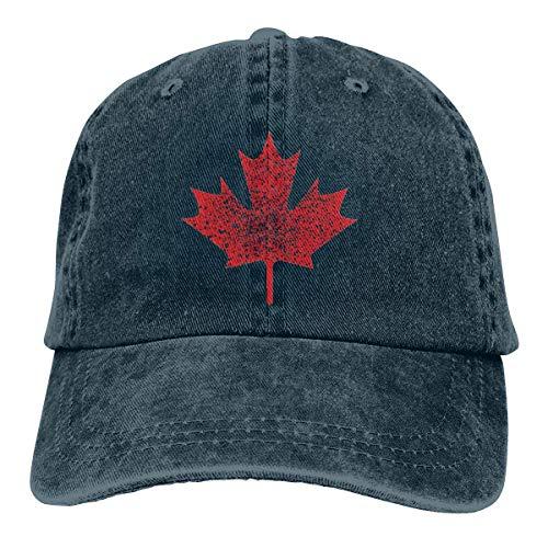 deyhfef Kanadisches kanadisches Ahornblatt Unisex-Flache Gewaschene Baseballmützen justierbarer Vati-Hut Multicolor65