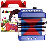 Fishawk Juguete de acordeón para niños, Juguete Musical de acordeón de percusión de Piano para niños, 7 Teclas
