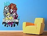 Klebefieber Wandtattoo Monster High Friends B x H: 50cm x 70cm