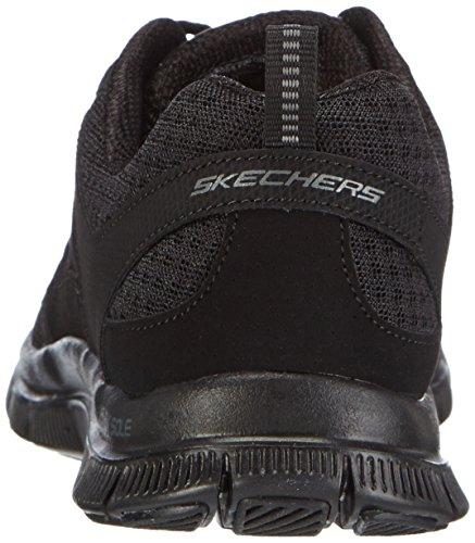 Skechers Donna Flex Appeal - Adaptable Scarpe Sportive Donna Nero (BBK)