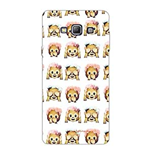 Designer Cute Phone Cover / Case for Samsung A7 2015 - Monkeys