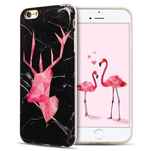 IPhone 6 Plus Hülle, iPhone 6S Plus Case, Apple 6 Plus Handyhülle, Spiritsun Weiche TPU Hülle für Weihnachten Kawaii Cover Hochwertige Funkelnde Luminoso Hülle Elegante Flessibile Liscio Flamingo Protezione Hülle für Morbido Silikon Custodia für iPhone 6 Plus / 6S Plus(5.5 Zoll) Cover-Cervo getestet 1 (Cervo-leder)