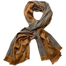 styleBREAKER edler weicher Schal mit Fransen und dezentem Quadrate Muster 01018051