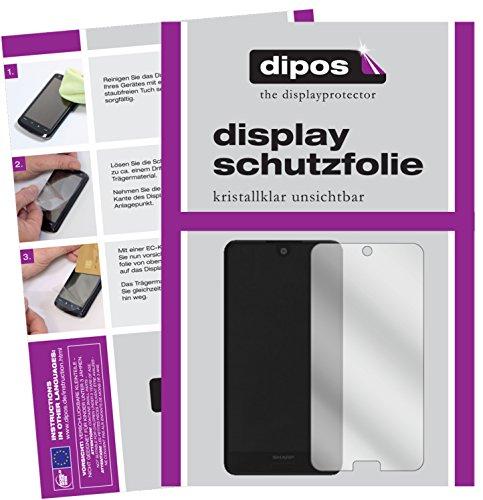 dipos I 2X Schutzfolie klar passend für Sharp Aquos C10 Folie Displayschutzfolie