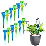 LongcMall Automatische Bewässerung 12er Set Keramik Wasserspender für Topfpflanzen, Bonsai, Pflanzen, Blumen