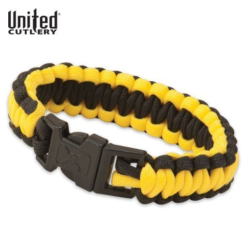 Elite Forces M48 Paracord Survival Bracelet Safety Yellow & Black by United Cutlery