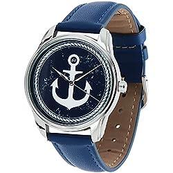 Zeigt originelle-Armband blau Leder-Marin