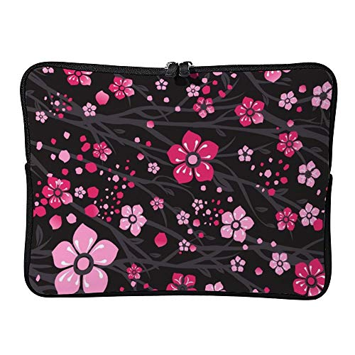 DKISEE Sakura Japan Cherry Branch with Blooming Flowers Laptop Sleeve Case Bag Cover Compatible 10 inches Notebook MacBook Air MacBook Pro - Cover Hp-laptop-disney