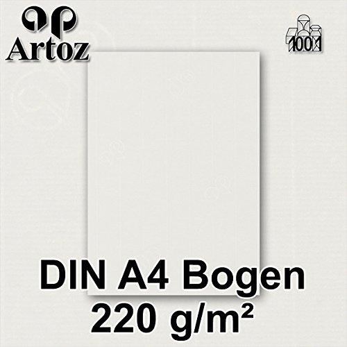 Hochwertiges Designpapier Urkundenpapier ARTOZ 50x Briefpapier Ivory-Elfenbein DIN A4 297 x 210 mm Edle Egoutteur-Rippung