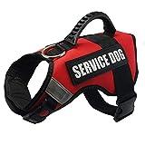 JONKUU® Brustgeschirr Plush Vest für Große Mittelgroße Mittlere & Kleine Hunde (L, Rot)